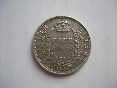 British Guiana Silver 1942 Four Pence coin