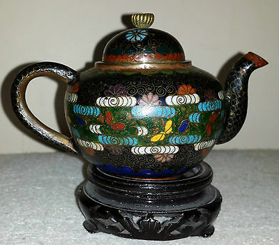Antique miniature Cloisonn Tea Pot