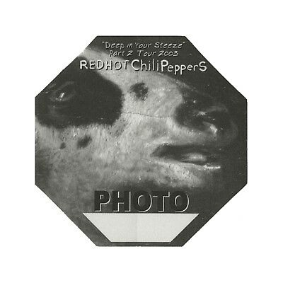 Red Hot Chili Peppers authentic Photo 2003 tour Backstage Pass