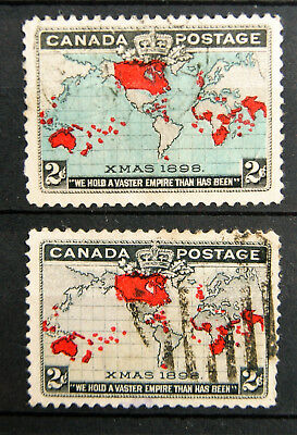 1898 xmas stamps - blue and grey sea versions - very good examples