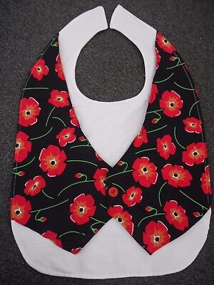 Adult Bib Disability Clothes Protector - Poppy