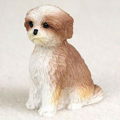 SHIH TZU (TAN PUPPY CUT) TINY ONES DOG Figurine Statue pet lovers gift resin