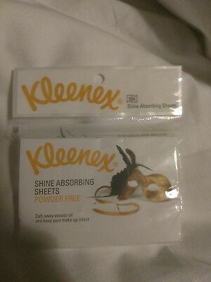 KLEENEX SHINE ABSORBING SHEETS 1 PACK OF 50 SHEETS brand new discontinued!
