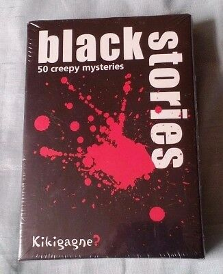 BLACK STORIES 50 Creepy Mysteries Card Game Sealed Kikigagne