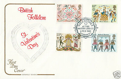 1981 Folklore - Cotswold - Valentines At The British Library H/S