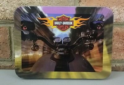 Harley-Davidson Collectible Tin And 2 Decks Of Playing Cards New 2002