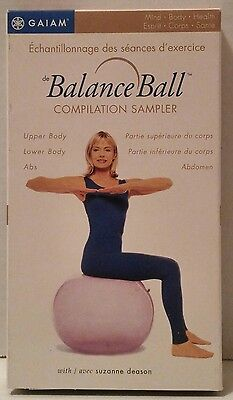 THE BALANCE BALL Compilation Sampler (VHS, 2001, GAIAM) Lower SUZANNE DEASON Abs