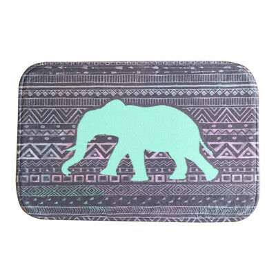 Indian elephant Style Water-absorb Floor Bath Mat Toilet Room Coral velvet T3T6