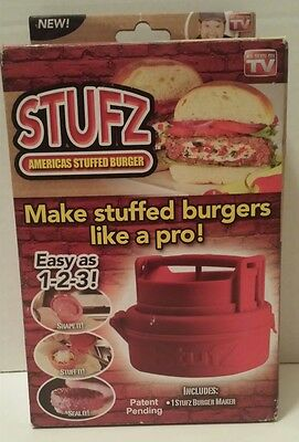 STUFZ BURGER PRESS - AS SEEN ON TV - AMERICAS STUFFED BURGER Maker