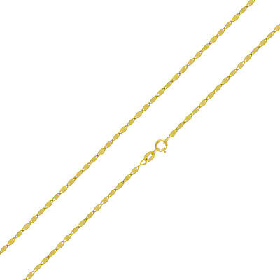 "14k Yellow Gold 2.3 mm Mirror Chain Necklace, 16"" to 20"""