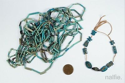 ANCIENT EGYPTIAN FAIENCE FUNERARY BEADS / NECKLACE Etc. NO RESERVE