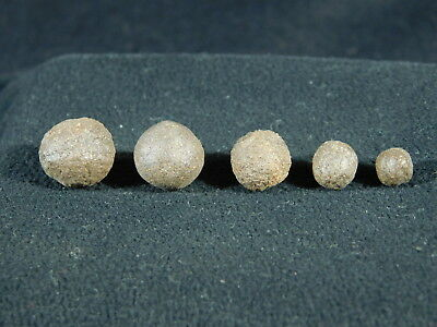 A Lot of FIVE TINY! 100% Natural Moqui Marbles or Shaman Stones From Utah 7.3gr