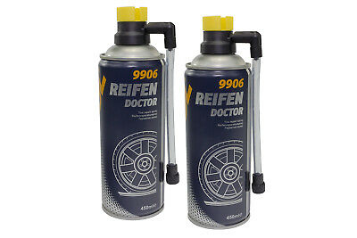 MANNOL Tyres Doctor Puncture repair spray Tire sealant Roadside assistance 2 Pcs