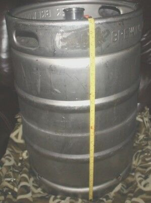 """Used 15.5 Gallon (1/2 Barrel) Commercial Beer Keg Brewing Co 23"""" by 16"""""""