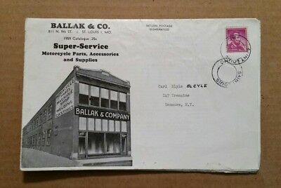 Ballak & Co.Motorcycle Parts,Accessories & Supplies,St.Louis,MO.,Catalog,1930's