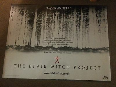 Original Uk Cinema Teaser Quad/poster Of 'the Blair Witch Project' (1999)