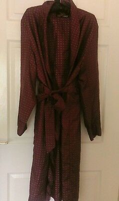 Vintage Mens St. Michaels M&S dressing gown lounge dark red large dandy gents