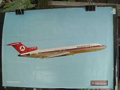 ansett airline posters x 3