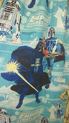 Vtg. Star Wars 1979 The Empire Strikes Back 2 Pinch Pleat Window Curtains Drapes