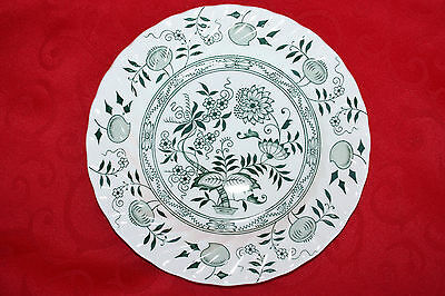 Green Old Vienna Ironstone Wood & Sons Dessert/Pie Plate 10 AVAILABLE EUC