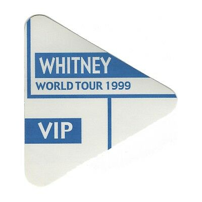 Whitney Houston authentic 1999 My Love is Your Love tour Backstage Pass VIP blue