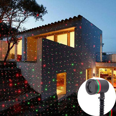 LED Christmas Projector/Laser Light US Plug Waterproof R&G Decor +2.5ft-Cable