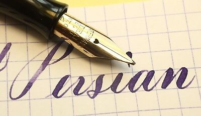 Waterman 94 Persian Celluloid Flex F - BBB Exceptionally Rare (with video!)