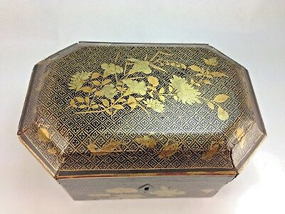 Antique Victorian Era Chinoiserie/Chinese Export Tea Chest, Tea Caddy All Origin