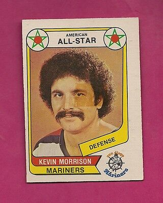 Rare 1976-77 Opc Wha # 68 Mariners Morrison All Star Tape Card (Inv#3716)