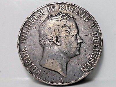 1842 A Prussia German States Silver 2 Thaler ( 3-1/2 Gulden ) Circulated Coin