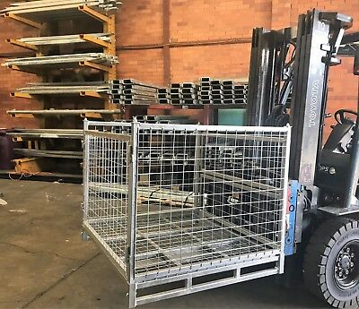 Goods Cage Warehouse Storage Cage Stackable 2000KG Galvanized Sydney Stock
