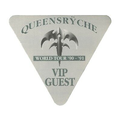 Queensryche authentic 1990 Building Empires Tour satin Backstage Pass VIP green