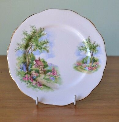 Vintage fine china saucer / plate Queen Anne Tudor Cottage