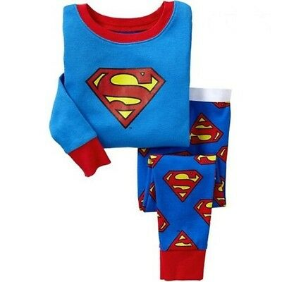 Boys kids Superman pajamas set 2T baby sleepwear nightclothes cosplay clothes