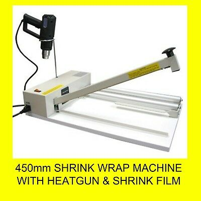 450mm Shrink Wrap Machine with Heatgun and Roll Dispenser + Shrink film roll