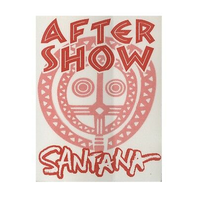Santana authentic 1998 tour satin Backstage Pass after show red