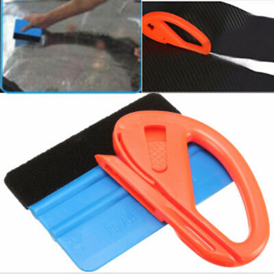 Vinyl Safety Cutter & Felt Edge Squeegee Scraper Car Wrapping Tools Useful