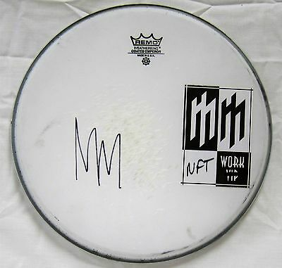 MARILYN MANSON authentic autographed DRUM HEAD & BACKSTAGE PASS signed 2009 tour