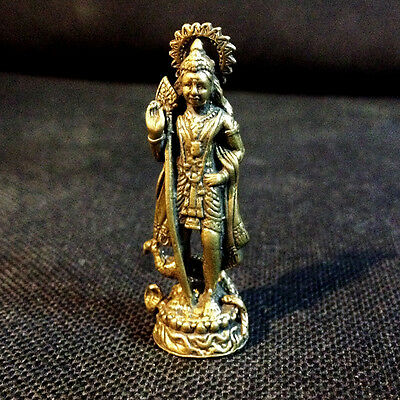 Lord Murugan Shiva son God of war Hindu amulet Miniature Figurine Success DAI
