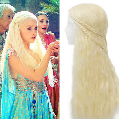 Game of Thrones Daenerys Wig Targaryen Khaleesi Braids Costume Cosplay Accessory
