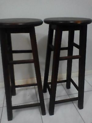 2 Wooden Bar Stools from Amart furniture