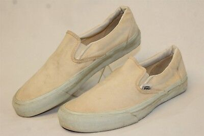 VANS VINTAGE USA Made Mens 9.5 VTG 80'S Canvas Skate Shoes Slip On Sneakers wx