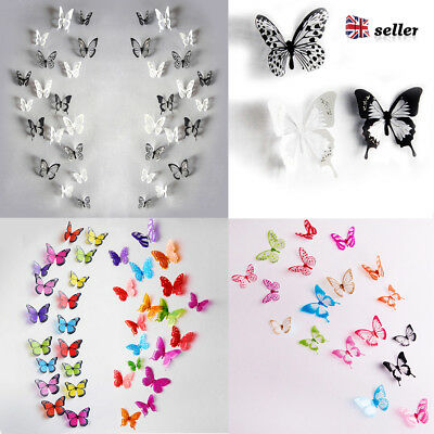 18pcs 3D Butterfly Sticker Art Design Decal Wall Decals Kids Home Decor Magnet
