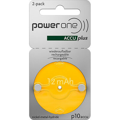 Pile auditive rechargeable 10A power one 1.2V 10mAh  - Blister(s) x 2