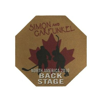 Simon & Garfunkel authentic 2010 tour Satin Cloth Backstage Pass original