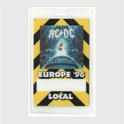 AC/DC authentic 1996 concert Laminated Backstage Pass Ballbreaker Europe Tour