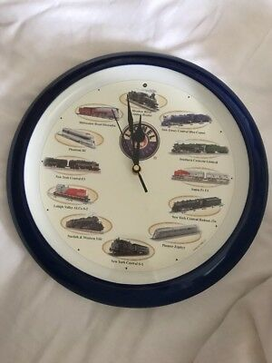 Lionel Train Wall Clock Locomotive Sounds On The Hour