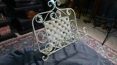 "Vintage Wrought Iron Book Cookbook Art Bible Stand 14"" X 14"" 3.5 Deep"