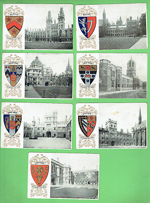 #d301. Pre 1878  Oxford  University  Colleges  Postcards With Embossed Arms