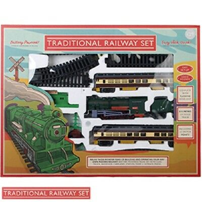 Traditional Classic Steam Train Set Railway 5.72m Track toy gift christmas NEW
